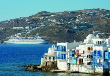 Celestyal Cruises in Mykonos, Greece