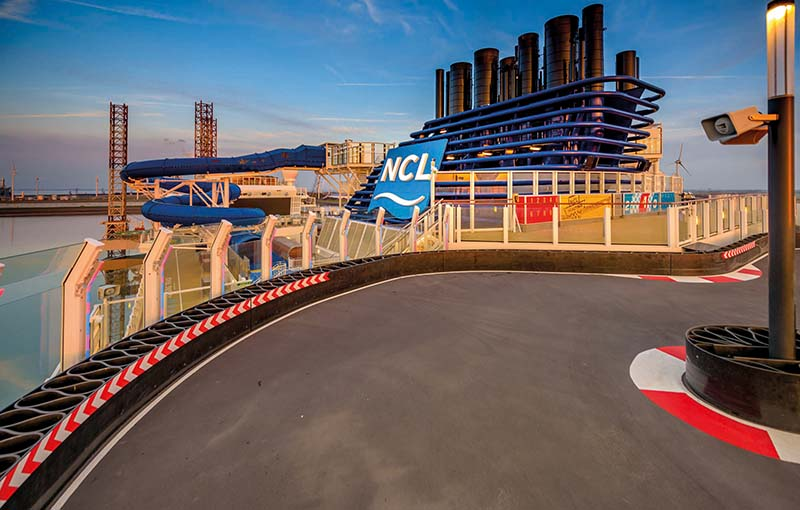 NCL Norwegian Bliss - Race track