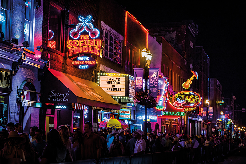 Broadway in Nashville, Tennessee, USA