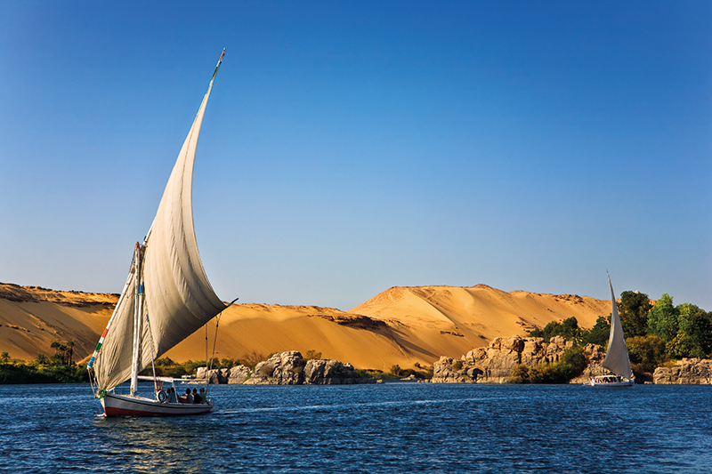 The Nile in Egypt at Aswan