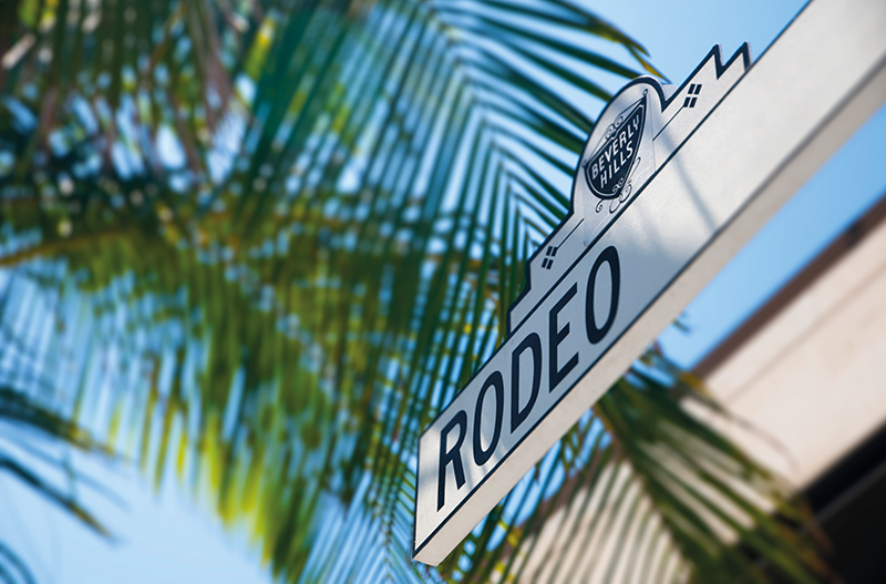 Rodeo Drive sign, Beverly Hills, California, USA