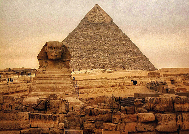 The Sphinx And Pyramid Of Chephren, Egypt