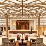 The Wintergarden lounge area on board the Viking Star