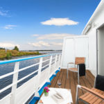 A view of the Mother Volga from a balcony suite on board Scenic Tsar