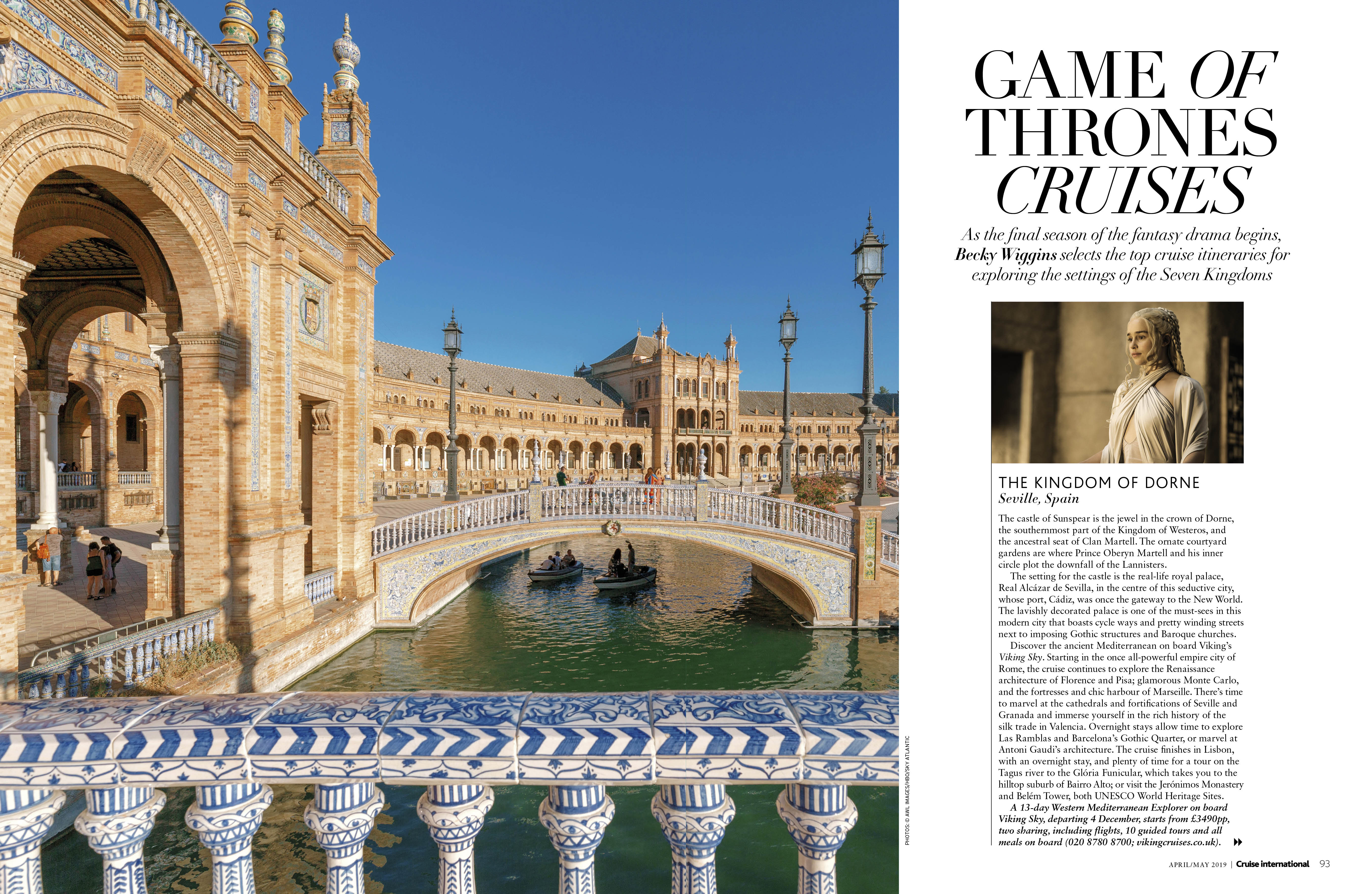 Game of Thrones cruises feature in Cruise International April May 2019
