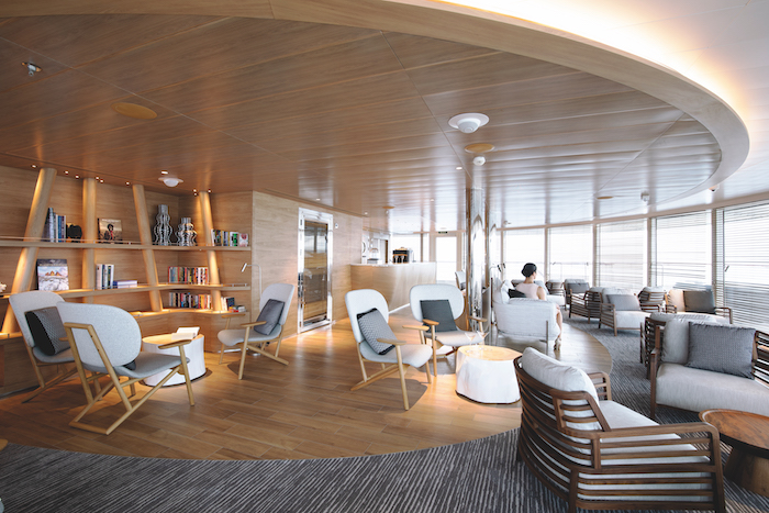 The Panoramic Lounge on board Le Champlain