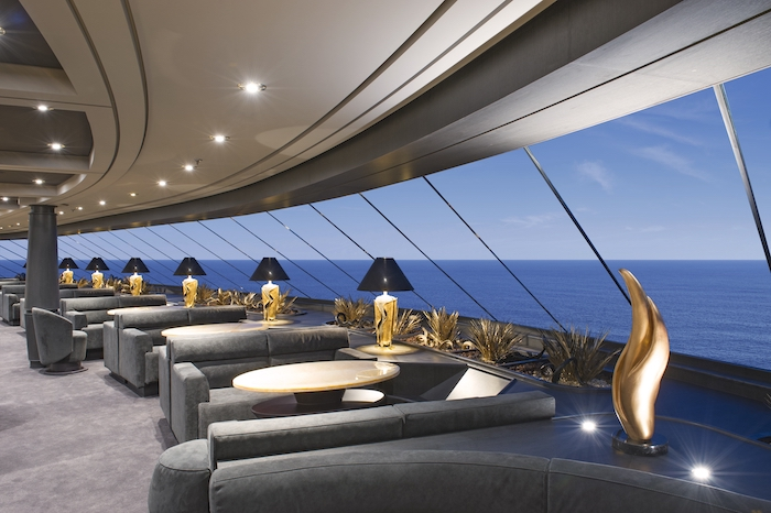 luxury sail lounge on a cruise upgrade