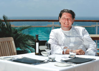 Marco Pierre White on a P&O Cruise ship for a themed sailing with special cooking activities