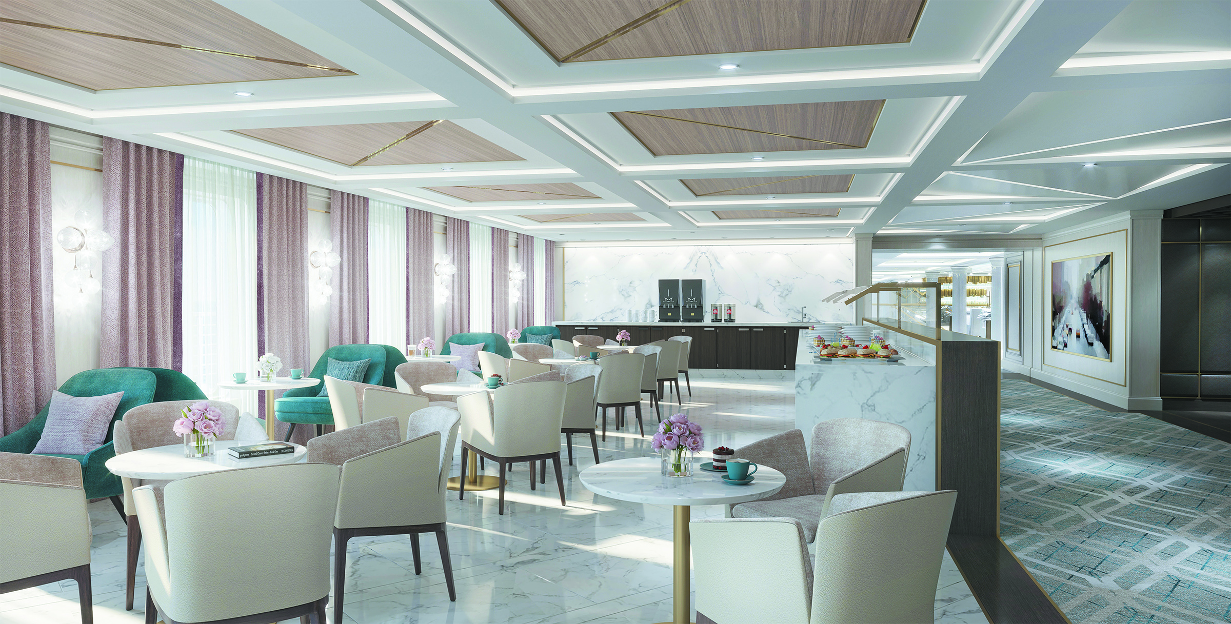 Coffee Connection bar on board Seven Seas Splendor
