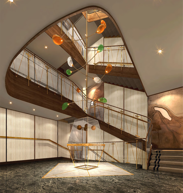 Atrium, one of the new public spaces on board Seabourn Venture