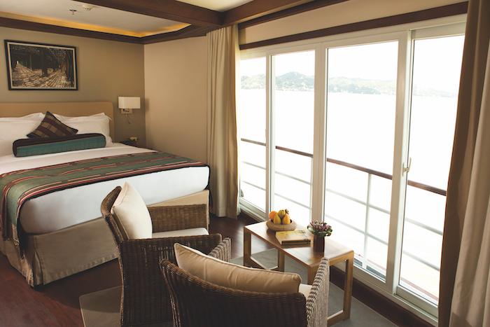 Suite with balcony on board Belmond ship makes it one of the best river cruises 2019