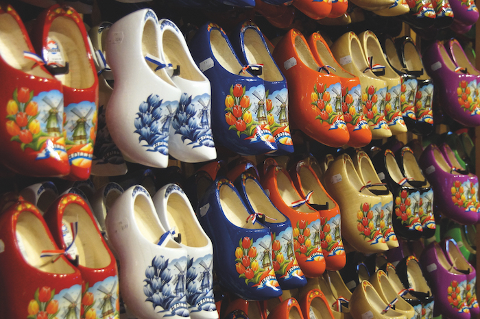 Traditional Dutch clogs for sale as seen on a Belgium and Holland cruise