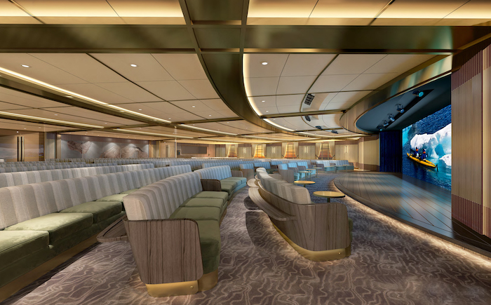 Discovery Centre, one of the new public spaces on Seabourn venture and sister ship