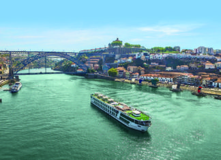Cruising with Jane McDonald joins Emerald Radiance on the Douro River