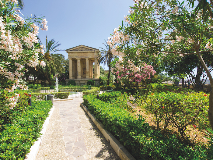 Lower Barrakka Garden in Valetta, Malta, can be visited on Game of Thrones cruises