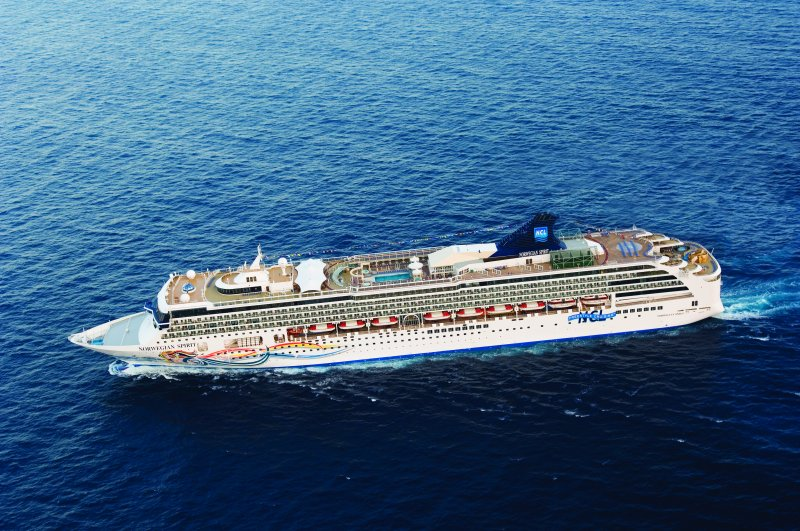 Norwegian Spirit cruising on one of its no-fly cruises