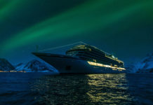 Viking Sky on a Northern Lights cruise