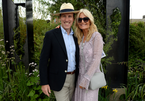 Anton du Beke and Gaby Roslin The Art of Viking garden at RHS Chelsea