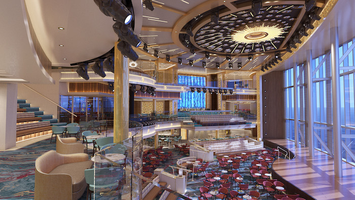 be wowed by the atrium on board Mardi Gras if you win the Carnival cruise