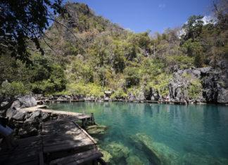 rugged coastline of Coron, the Philippines