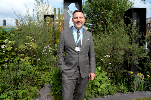 David Walliams at The Art of Viking Garden
