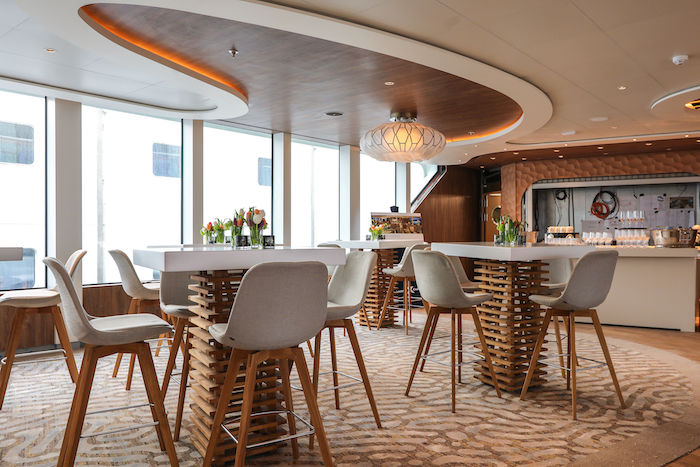 The Discovery Lounge on board Celebrity Flora