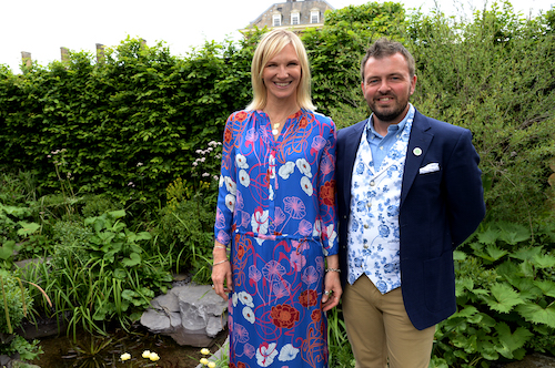 Jo Whiley and Paul Hervey-Brookes on the Viking Cruises' 'The Art of Viking Garden' at RHS Chelsea Flower Show'