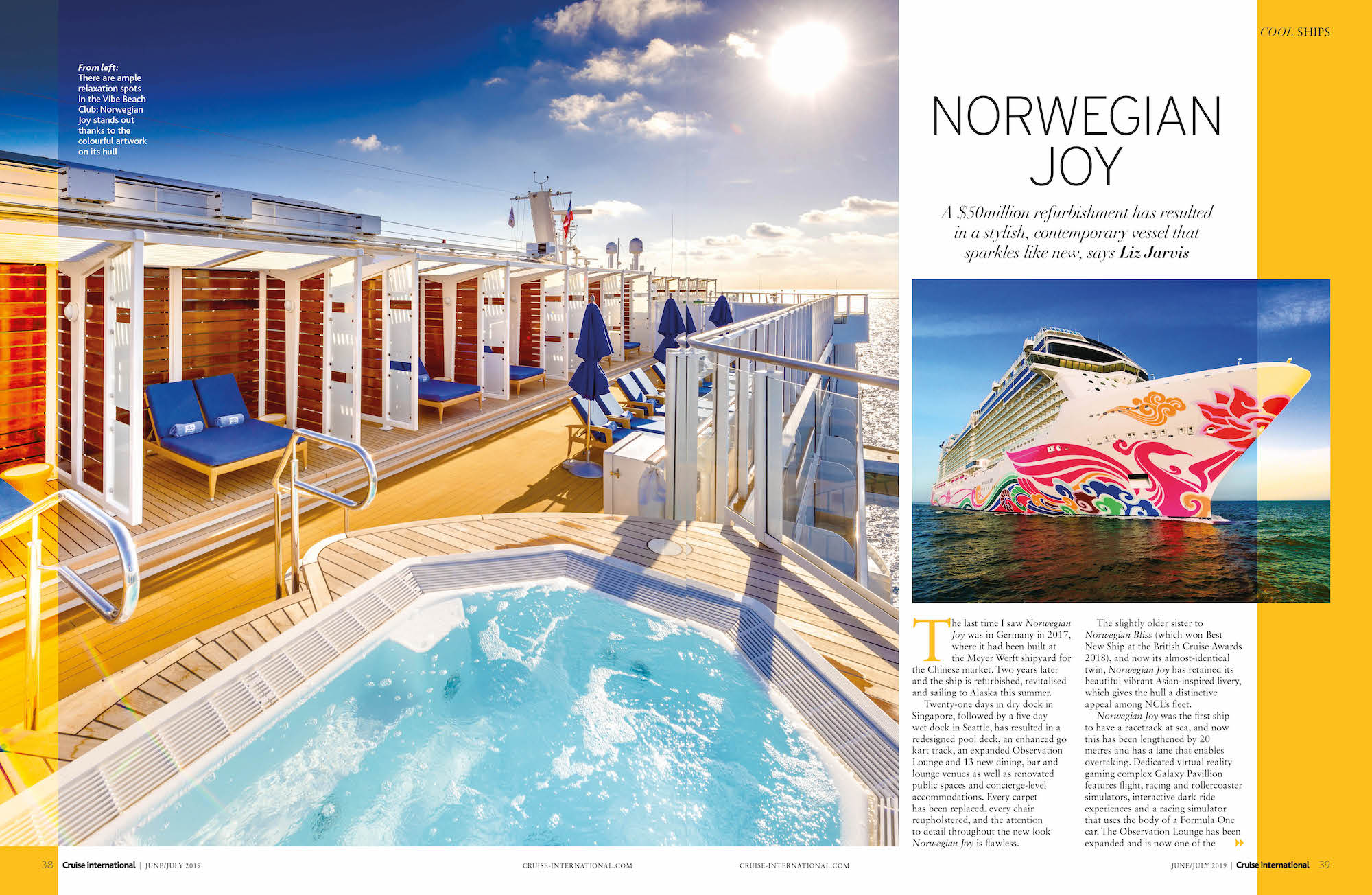 Norwegian Joy Cruise International June/July 2019