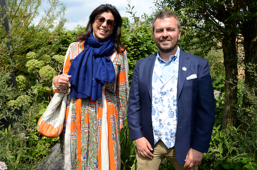 Kirstie Allsopp and Paul Hervey-Brookes at Viking Cruises' 'The Art of Viking Garden' at RHS Chelsea Flower Show'