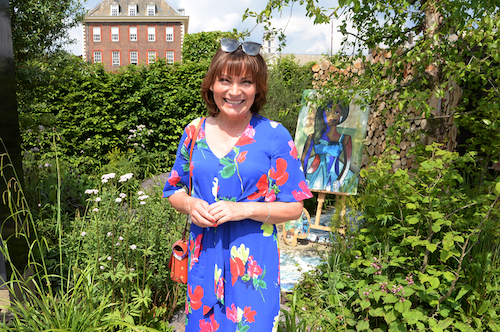 Lorraine Kelly at he Art of Viking Garden' at RHS Chelsea
