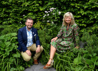 Paul Hervey-Brookes and Wendy Atkin-Smith in the Art of Viking garden