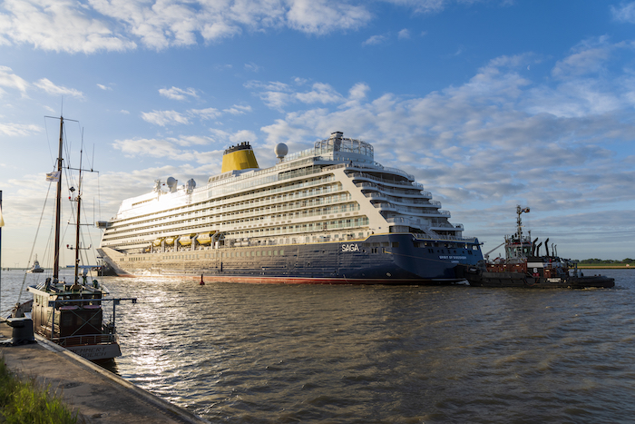 Spirit of Discovery completes transfer to open sea