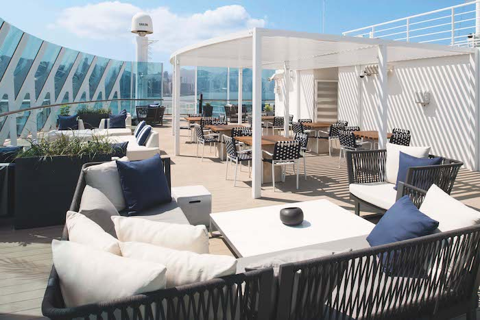 The Retreat Sun Deck features in the Celebrity Summit review