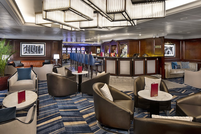 New look Martini lounge on board Sirena part of OceaniaNEXT initiative