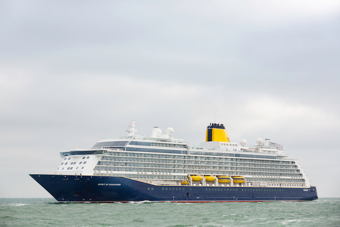 Saga Spirit of Discovery arrives in Dover