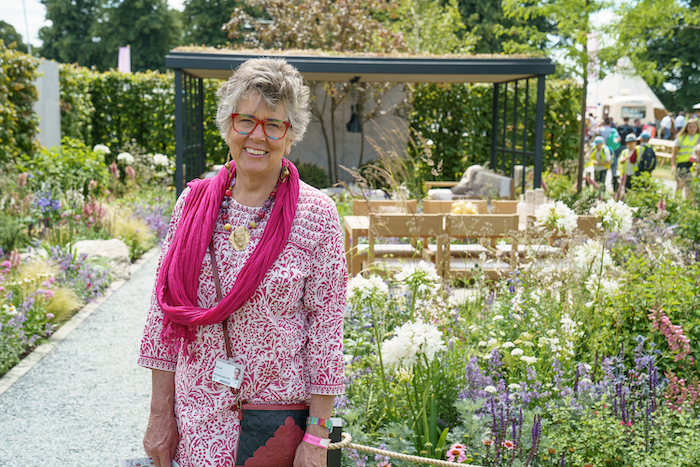 Prue-Leith-Viking-wins-gold-RHS Hampton Court