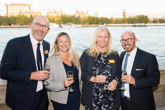 Michael English from Celebrity Cruises, Donna Carley from Royal Caribbean, Caroline Donaldson from Barrhead Travel and Brian Readman from Titan Travel
