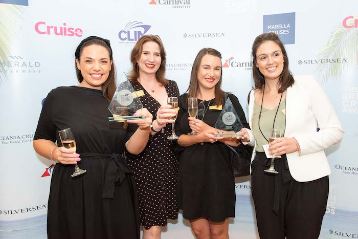 Leah Finlayson, Jo Vaughton, Hayley Manson and Alyce Nelson from Celebrity Cruises