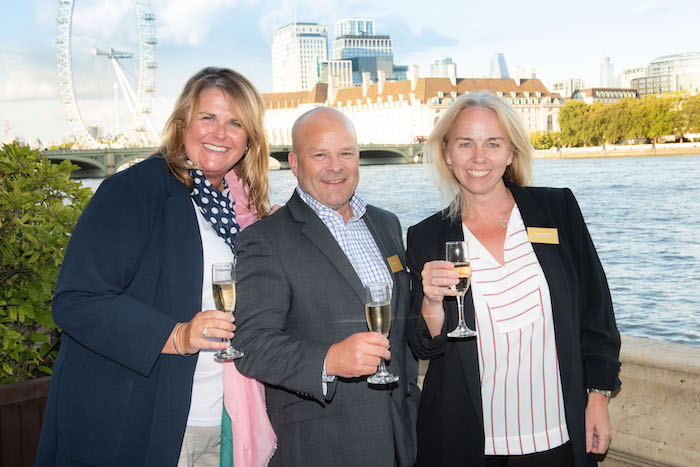 Louise Prior, Bernard Carter and Philippa Duckworth from Oceania Cruises
