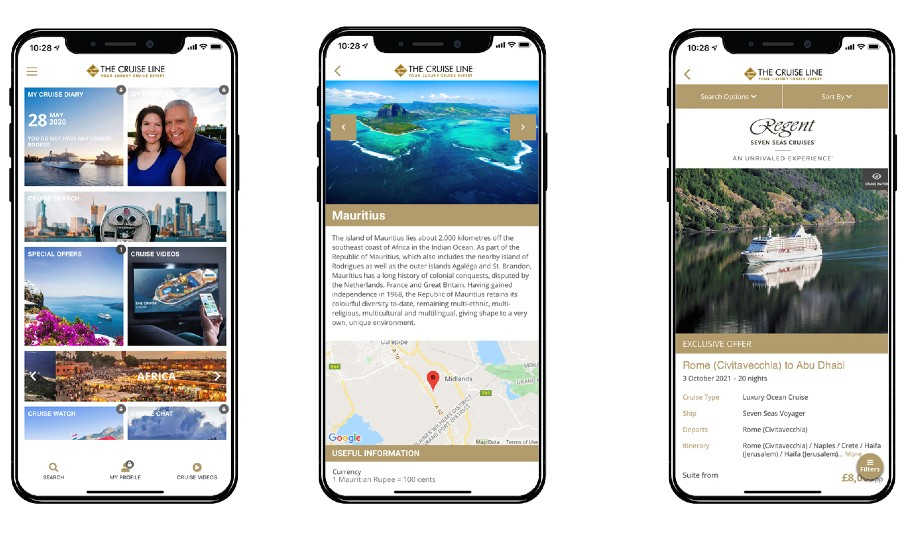 The Cruise Line App - feature