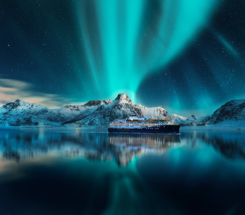 Lofoten Northern lights-Havila Voyages